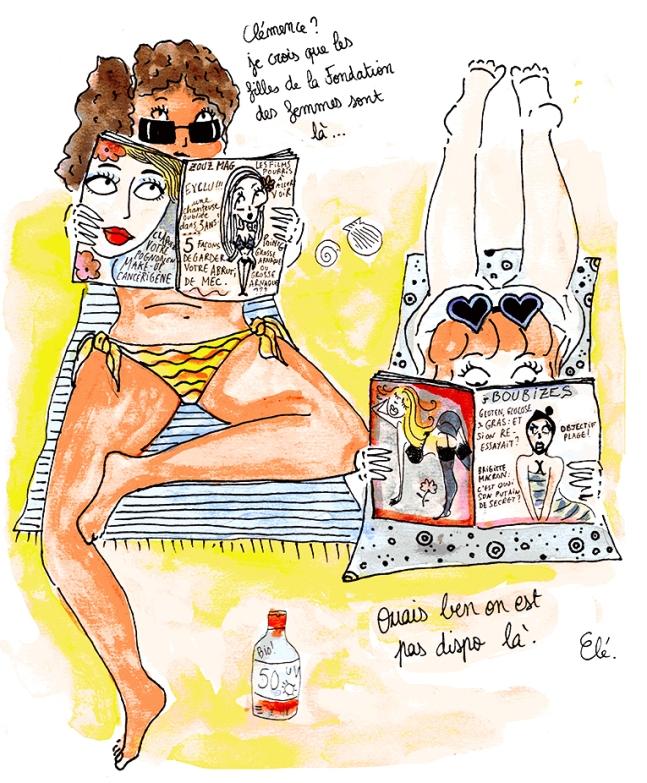 Newsletter fondation des femmes - août - plage